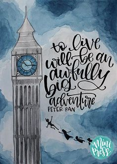 Art Print Peter Pan Quote To live will be an awfully big adventure Art Print Peter Pan Quote To live will be an awfully big adventure beth cayford bethcayford Disney To nbsp hellip canvas quotes Canvas Quotes, Art Prints Quotes, Wall Art Quotes, Quote Art, Painting Quotes, Craft Quotes, Door Quotes, Drawing Quotes, Peter Pan Disney