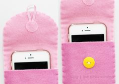 The Pink Momma: {DIY} Phone pouch using felt fabric