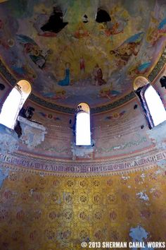 A historical and photographic perspective of the long-neglected and gutted St. Joseph Byzantine Catholic Church in Cleveland, Ohio. Abandoned Churches, Abandoned Places, Haunted Places, Haunted Houses, Interesting Sites, Amazing Buildings, St Joseph, Best Sites, Place Of Worship