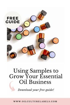Effectively using samples to grow your essential oil business.