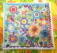 sol y sombra: Left handed embroidery lessons
