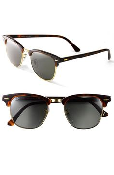 Ray-Ban 'Clubmaster' 49mm Sunglasses available at #Nordstrom
