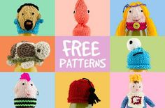 Free knitting patterns for the Big Knit Charity of Innocent Smoothies