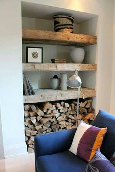 shelving wood storage