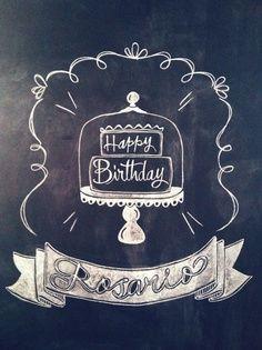 happy birthday chalkboard sign - Google Search