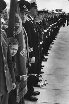 Commemorating the victory over the Nazis. 9 May 1973. Photo by Henri Cartier-Bresson.