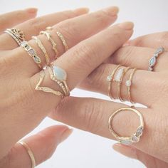 www.jessicasirls.com  Fashion style jewelry gold rings stones  5 Jewelry Lines We're Currently Obsessed With | The Zoe Report