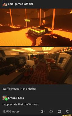 E epic-games-official Waffle House in the Nether - iFunny :) Stupid Memes, Stupid Funny, The Funny, Dankest Memes, Funny Memes, Hilarious, Funny Stuff, Random Stuff, Minecraft Memes