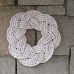 Sailor Knot Wreath or Centerpiece, White - Mystic Knotwork