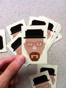 Oli Phillips's Heisenberg stickers are a must for any Breaking Bad party.