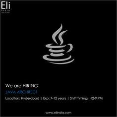 Java Architect Jobs Hyderabad, Jobs in Hyderabad - Eli India We Are Hiring, Job Opening, Hyderabad, Java, How To Apply, India, Delhi India, Indian