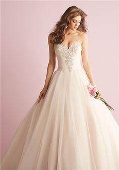 Sweetheart neckline & swarovski crystal embellished bodice with full skirt // 2710 from Allure Romance