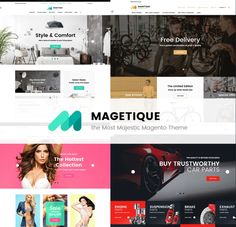 Magetique is the most Comprehensive Multipurpose Magento2 Theme. No other theme on the market offers this much functionality right off the bat - you're getting over 20 extensions that facilitate your business needs. Easily edit pages, page blocks and various on-screen elements to provide a tailored shopping experience for your clients. #magento2 #magento2theme #magento2development #magentoecommerce  https://www.templatemonster.com/magetique.html/