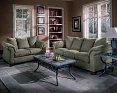 Durapella Sage Green Microfiber Sofa And Love Seat Set   $978.00 : Sofas,  Modern Sofa