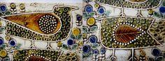 1967年~86年の12年間に9種類製作された陶板(壁掛け)の1つ、Faglar (Birds)です。  こちらは一番人気のある鳥が2羽描かれた絵柄で、グリーンの鳥のお色はなかなか見かけませんので貴重です。