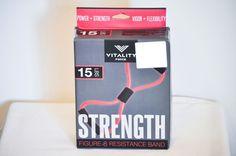 Vitality force Resistance Band Figure-8 Exercise Power Pull Up Strength V17045 #VitalyForce