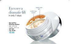 One of my favorite products!   Eyes needs a lift? See a dramatic lift in 7 days with Anew Clinical Eye Lift Pro Dual Eye System! With upper eye/brow bone gel and under-eye cream, eyes feel tighter and lifted, and under-eye shadows are visibly reduced. Formulated with injectable-grade arginine and other skin tightening ingredients. On sale for $19.99 (lowest price of the year)! #ANEW #Avon #AvonRep  www.youravon.com/maureenmayer