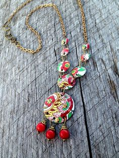 Lovely  Vida Necklace  Classic Tin Jewellery Recycled by SweetSageJewelry, $38.00...