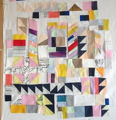 Instagram media by maranoni - A commissioned rendition of my Sawtooth Quilt from 2014. Piecing without rulers or rotary cutters is the best.