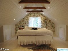 Are you a homeowner looking for a way to create an escape space for yourself in the comfort of your own home? Attic Bedrooms, Bedroom Loft, Master Bedroom, Bedroom Decor, Bedroom Ideas, Beddinge, Grey Upholstered Bed, Escape Space, Modern White Bathroom