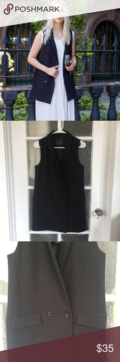 Black Vest Worn once Banana Republic Jackets & Coats Vests