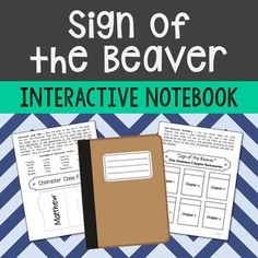 Sign of the Beaver Interactive Notebook. This unit includes vocabulary terms, poetry, author biography research, themes, character traits, chapter summary, and note taking activities. All interactive pages have been designed with easy-to-cut and easy-to-fold edges for frustration-free creativity!If you're looking for a complete book unit that is full of higher-level activities and NOT boring multiple choice tests, then this is it!