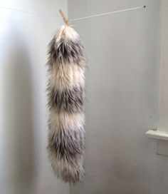 how to make a yarn weft tail