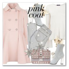 """""""Hey, Girl: Pretty Pink Coats"""" by andrejae ❤ liked on Polyvore featuring The Row, Current/Elliott, Bee Goddess, Valentino, polyvoreeditorial, polyvorecontest and pinkcoats"""