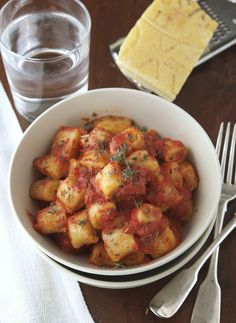 Whole Wheat Ricotta Gnocchi With Tomato and Fresh Herb Sauce