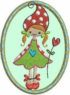 Spende Janeas Mädel gezeichnet von Gaby Siewertsen von lollikids auf DaWanda.com