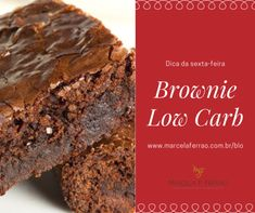 Low Carb Chocolate, Chocolate Brownies, Receita Bolo Low Carb, Brownie Low Carb, Keto Recipes, Healthy Recipes, Coco, Sugar Free, Gluten