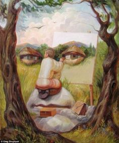 Optical illusions by Oleg Shuplyak