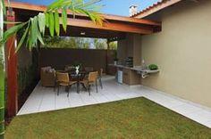 Area de lazer pequena 6 House Plans, Sweet Home, Beach House, Deck, Outdoor Structures, Landscape, Outdoor Decor, Design, Home Decor