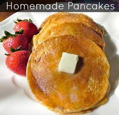 #Natural #Homemade #Pancake #recipe that you can also make #glutenfree!