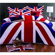 Grey \'Vintage Union Jack\' bed linen - Duvet covers & pillow cases ...