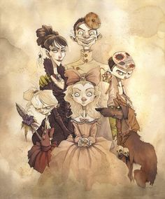 Family portrait: private commission. Art by Chris Grimly. #chrisgrimly