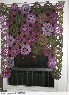 Cool #lace flower pattern + window= Beautiful ... | Cro… na Stylowi.pl