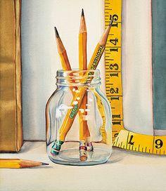 Por amor al arte: Kathrine Lemke Waste Still Life Drawing, Painting Still Life, Still Life Art, Pencil Art Drawings, Cute Drawings, Illustration Art, Illustrations, Object Drawing, Sewing Art