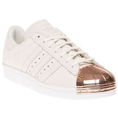adidas Superstar 80s Metal Toe Trainers (€125) ❤ liked on Polyvore featuring shoes, sneakers, 1980s shoes, 80s fashion shoes, adidas footwear, 80s footwear and adidas sneakers