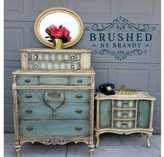 Gallery – Brushed By Brandy Furniture Fix, Blue Furniture, Chalk Paint Furniture, Hand Painted Furniture, Painted Dressers, Furniture Ideas, Furniture Makeover, Reclaimed Furniture, Furniture Design