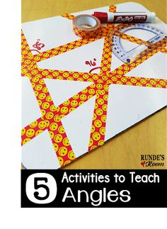 5 Activities for Teaching Angles. Hands-on activities to teach angles. Geometry Lessons, Teaching Geometry, Geometry Activities, Teaching Math, Math Lessons, Math Activities, Geometry Games, Geometry Art, Math Games