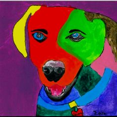 A project I led on painting dogs with second and third grade students.