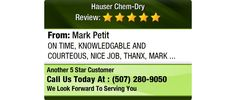 ON TIME, KNOWLEDGABLE AND COURTEOUS, NICE JOB, THANX, MARK
