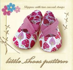 Baby sewing pattern shoes  with two crossed strips , childrens sewing patterns pdf , instant download