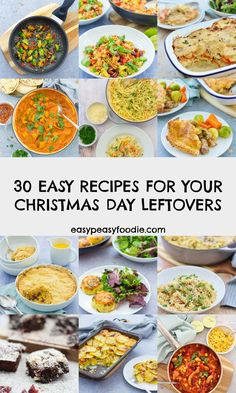 Is your fridge groaning with leftovers from Christmas Day? Wondering what to do with them? Whatever you do, don't throw them away! Here are 30 Easy Peasy Recipes For Your Christmas Day Leftovers... #christmasleftovers #boxingdayleftovers #leftoversrecipes #leftoverturkey #turkeyleftovers #turkeycurry #christmas #easychristmas #easypeasychristmas #christmasfood #easychristmasfood #christmasrecipes #easychristmasrecipes #easyentertaining #easypeasyfoodie #cookblogshare