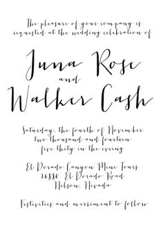 Modern Calligraphy Wedding Invitation by OliveJuiceStationery, $35.00