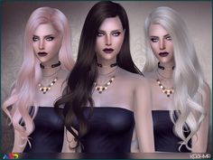 Long wavy hair inspired in Lady Gaga  Found in TSR Category 'Sims 4 Female Hairstyles'