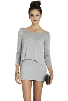 Overlay Long-Sleeve Dress | BCBGeneration