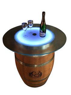 Tavolino botte con illuminazione a Led...per magiche atmosfere!! www.cool-art.it