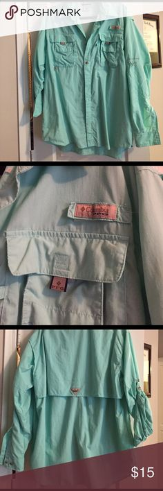 Colombia PFG sea foam green! Colombia PFG size Men's M. I'm perfect condition only worn few times! colombia Tops Button Down Shirts
